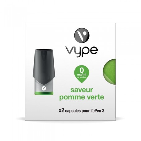 Capsules Vype ePen 3 Saveur Pomme Verte 0mg