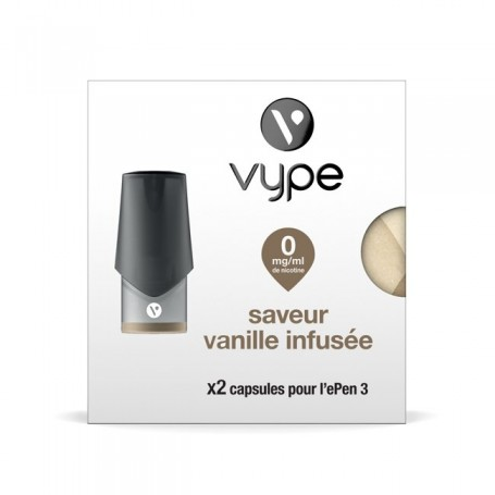 2 x Capsules Vype ePen 3 Saveur Vanille infusée 0 mg